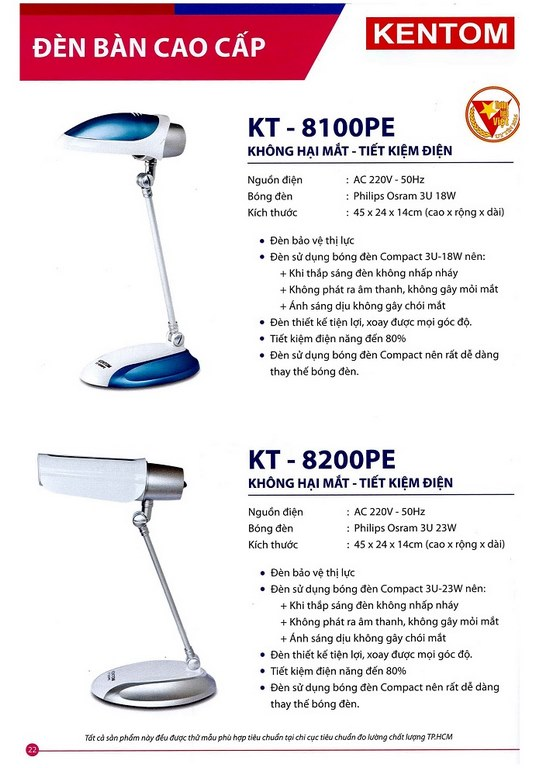 Bảng giá đèn chiếu sáng Kentom