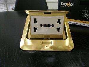 Ổ cắm âm sàn Dobo F66-886601 ổ cắm đôi 3 chấu