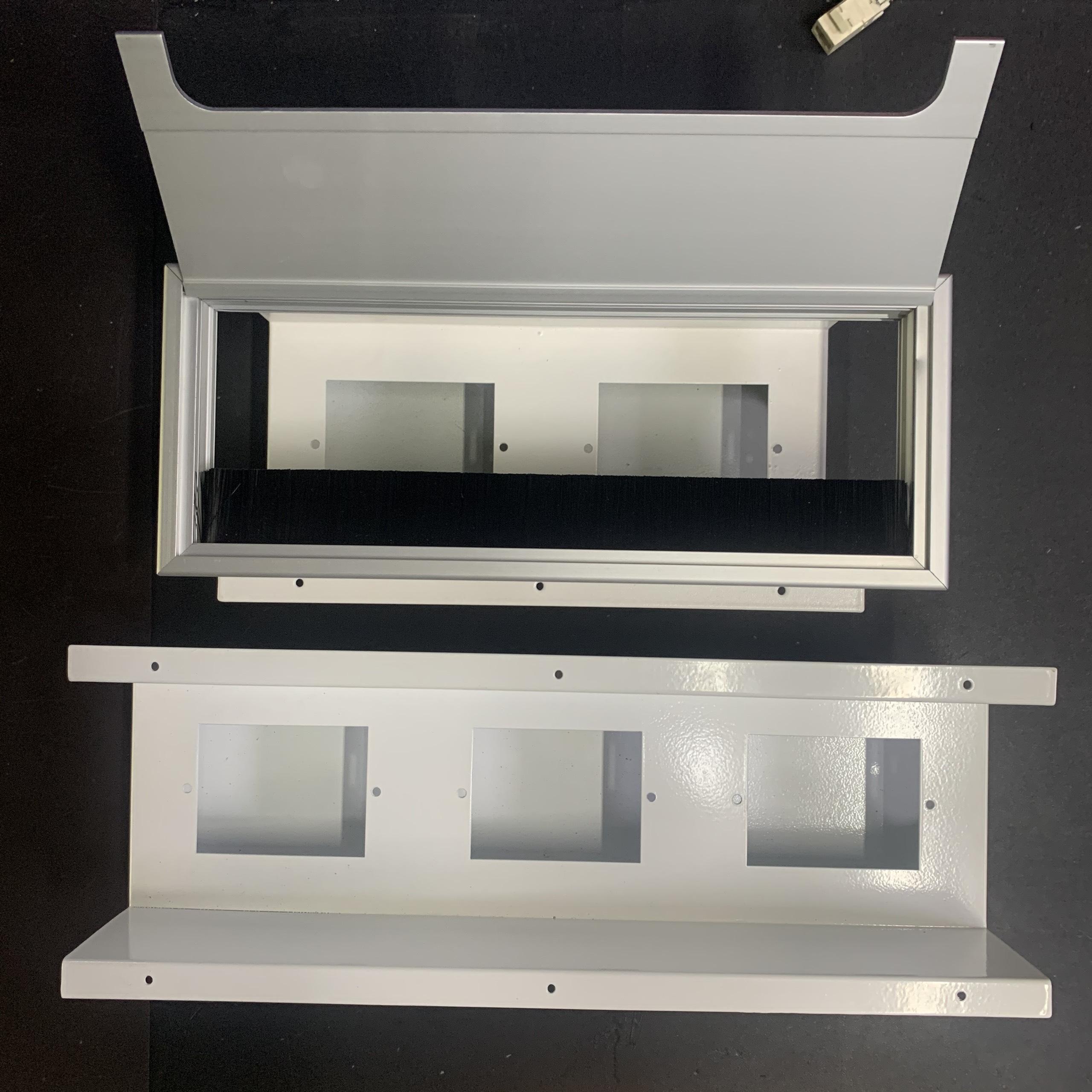Nắp hộp điện nhôm âm bàn 120x300