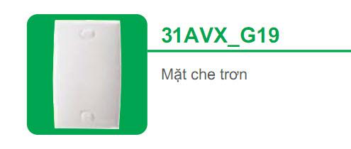 Mặt che trơn cho đế âm (nổi)31AVX-G19 S-classic Schneider