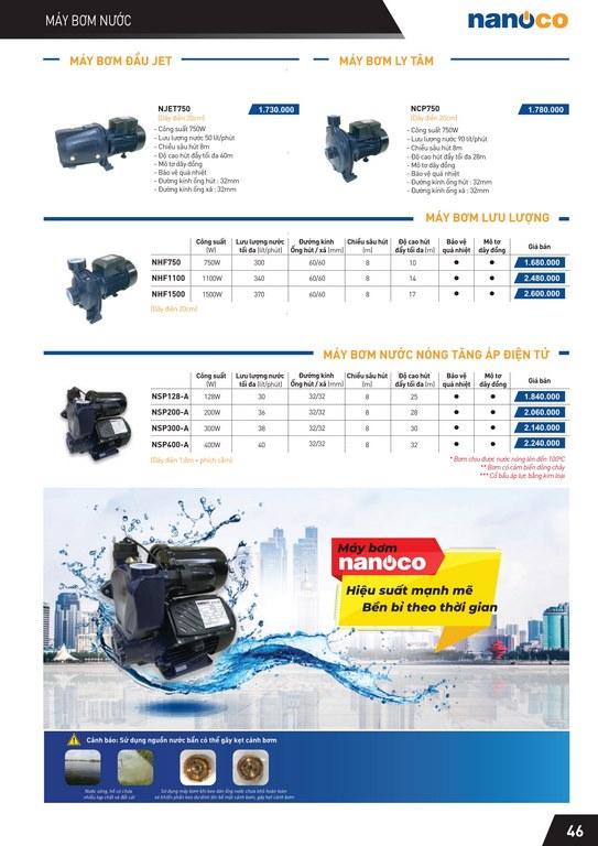 Catalogue và bảng giá thiết bị điện Panasonic
