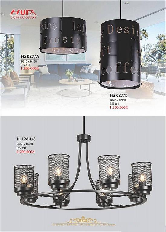 Catalogue đèn trang trí Hufa lighting