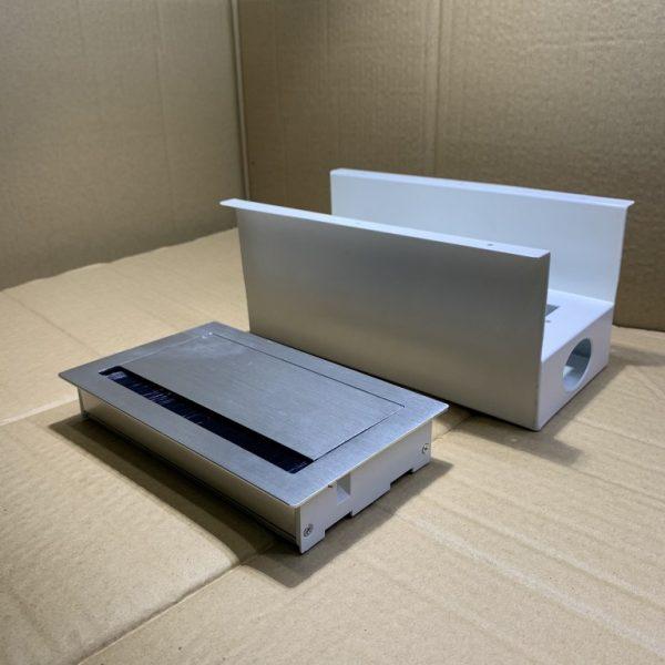 Nắp hộp điện nhôm âm bàn loại dày, cao cấp