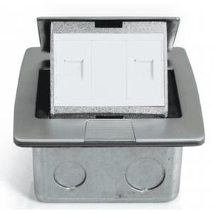 Ổ cắm âm sàn sinoamigo SPU-3S (màu bạc)