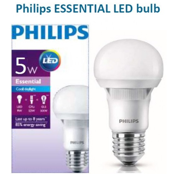 Bóng đèn led philips 5w Essential
