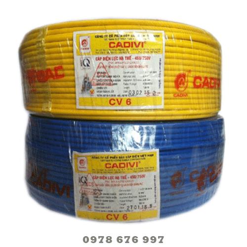 Dây điện cadivi CV-6.0 giá cực tốt khi liên trực tiếp tại cửa hàng