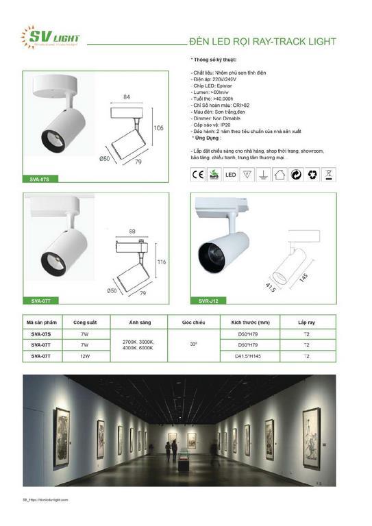 Catalogue và bảng giá đèn chiếu sáng SV Light