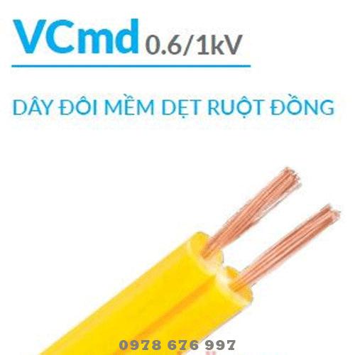 Dây điện cadivi Vcmd 2x0.5 giao hàng tận nơi TpHCM