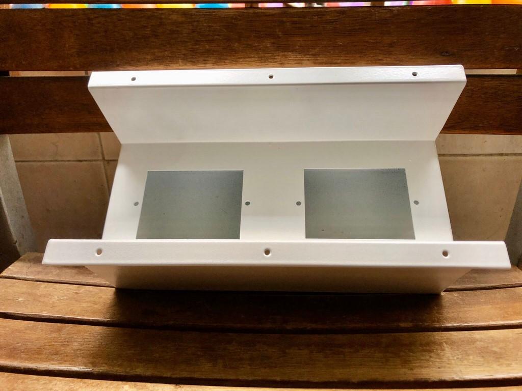 Hộp điện âm bàn sắt sơn tĩnh điện thiết bị chữ nhật 250x110