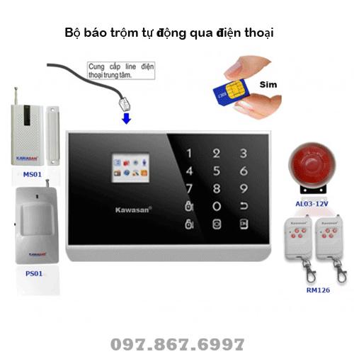 Hệ thống báo trộm KW 262T tự động gọi nhắn tin tới điện thoại
