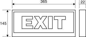 Đèn exit thoát hiểm paragon PEXF23SC