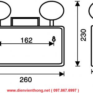 Đèn led chiếu sáng khẩn cấp Paragon PEMA21SW