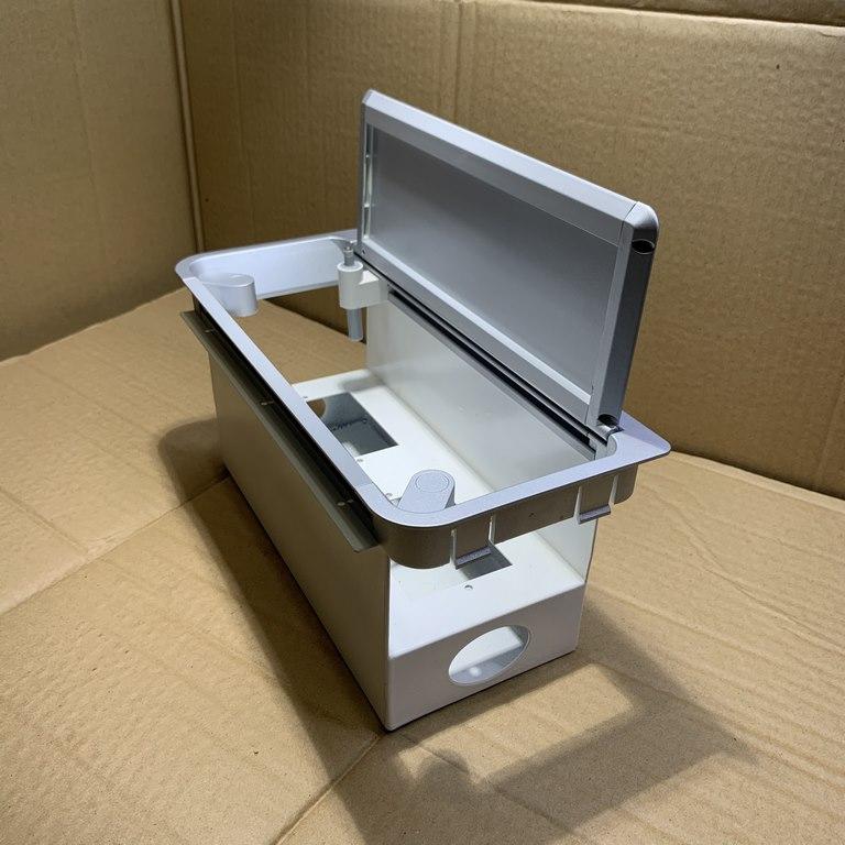 Nắp hộp điện nhôm âm bàn có giảm chấn
