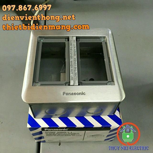 Ổ cắm âm sàn 6 thiết bị màu bạc Panasonic DUMF3200LT-1