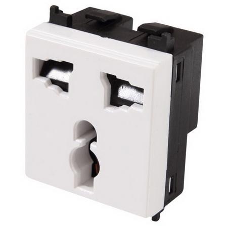 Ổ cắm điện đơn ba chấu đa năng Flexi