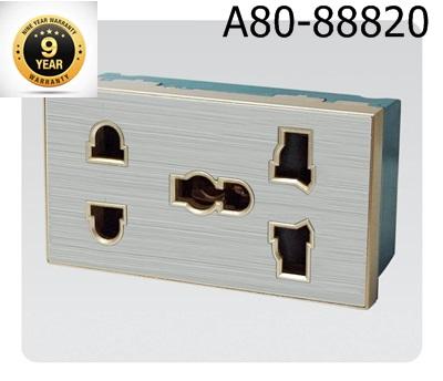 Ổ cắm điện đôi 5 chấu Dobo A80-88820