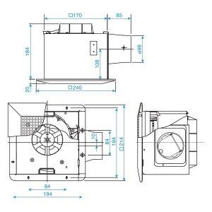 Quạt hút âm trần FV-17CU7 Panasonic