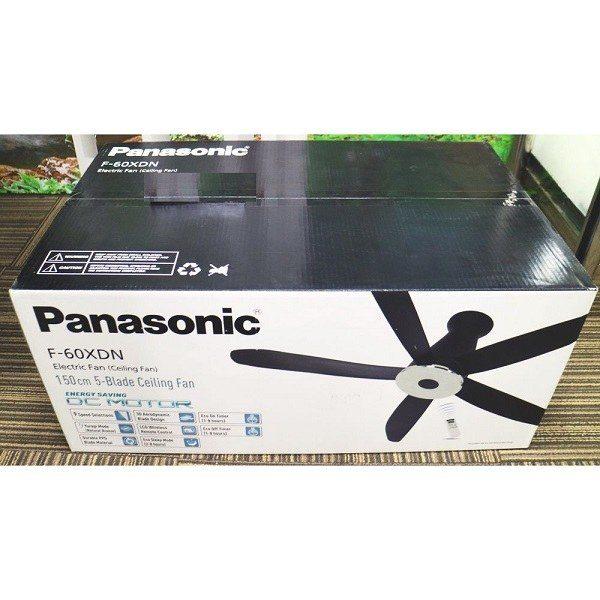 Quạt trần 5 cánh đen Panasonic F-60XDN