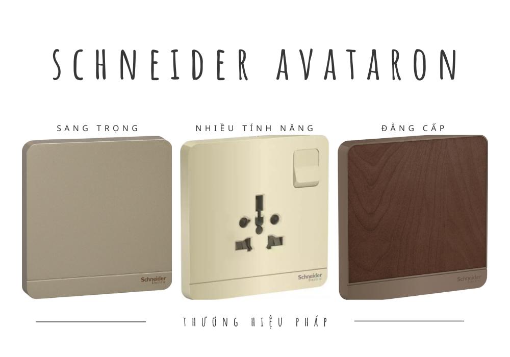 Công tắc ổ cắm vuông schneider avataron thế hệ mới