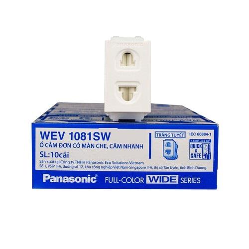Ổ cắm đơn 2 chấu Panasonic WEV1081SW